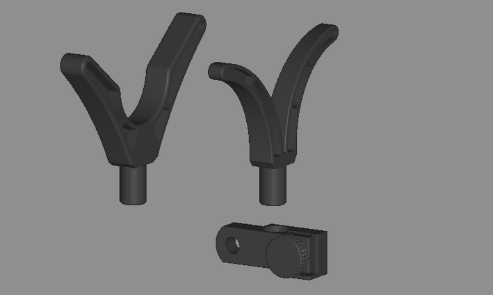 Front and back rod rests
