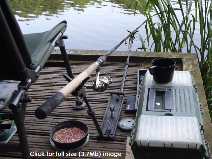 Image of FB2 Rod rest in use at Lymm Dam